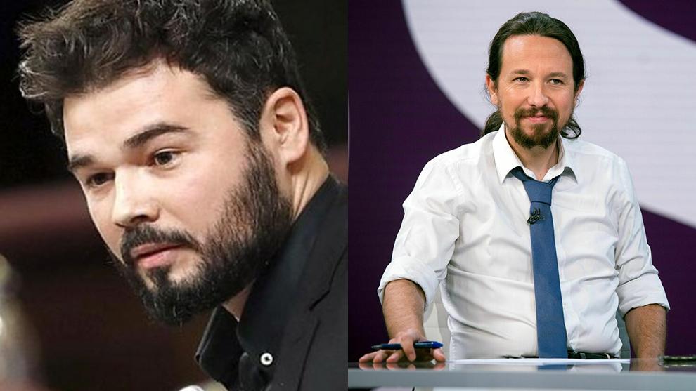 Gabriel Rufián echó en cara a Pablo Iglesias que hablara sobre los...