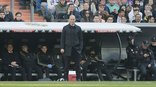 Zidane, durante el partido ante el Espanyol.