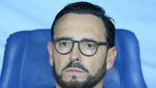 José Bordalás, durante el encuentro de Europa League entre el Getafe...