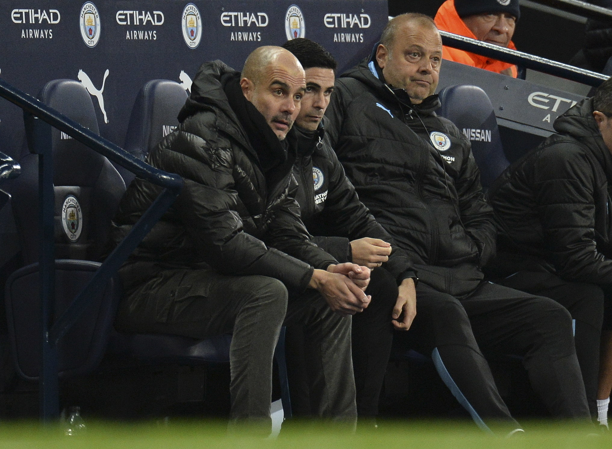 <HIT>Manchester</HIT> (<HIT>United</HIT> Kingdom), 07/12/2019.- <HIT>Manchester</HIT> Citys manager Pep Guardiola (L) reacts during the English Premier League soccer match between <HIT>Manchester</HIT><HIT>United</HIT> and <HIT>Manchester</HIT> City held at the Etihad Stadium, <HIT>Manchester</HIT>, Britain 07 December 2019. (Reino Unido) EFE/EPA/PETER POWELL EDITORIAL USE ONLY. No use with unauthorized audio, video, data, fixture lists, club/league logos or live services. Online in-match use limited to 120 images, no video emulation. No use in betting, games or single club/league/player publications