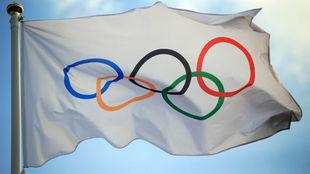 Bandera oficial del Comité Olímpico Internacional