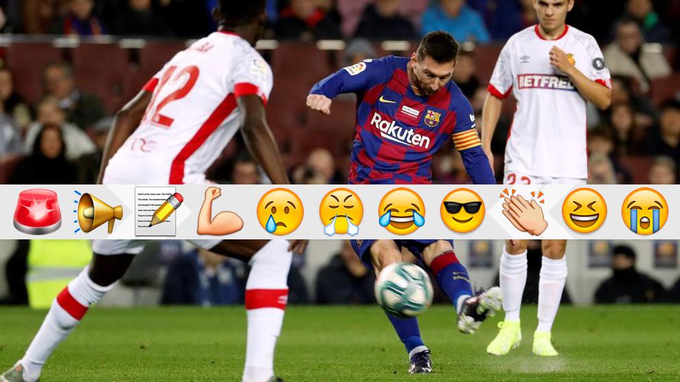Messi golpea para el primer gol