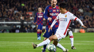 Kubo y Messi en el Camp Nou