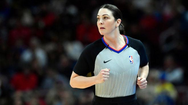 Lauren Holtkamp-Sterling durante el Bulls-Warriors