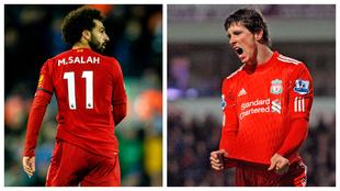 Mohamed Salah y Fernando Torres