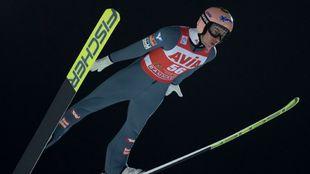 Stefan Kraft, en uno de los saltos.