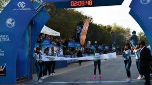 Evans Korir, ganador del maratón de Monterrey