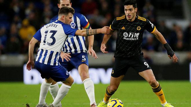 Raúl Jiménez dio una asistencia en el partido contra el Brighton.