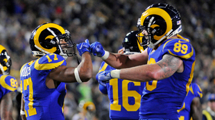 Los Rams mostraron varias combinaciones para generar peligro.