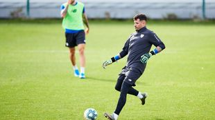 Herrerín está a una semana de volver al equipo en la Copa.