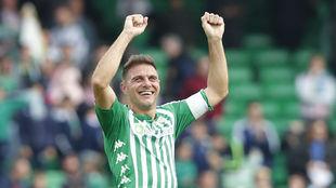 Joaquín celebra el triunfo ante el Athletic.