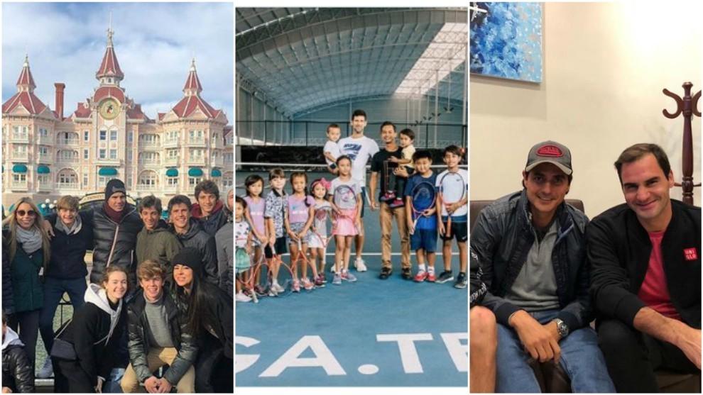 Las vacaciones de Nadal, Djokovic y Federer
