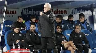 Javier Aguirre, con el Leganés ante el Celta.