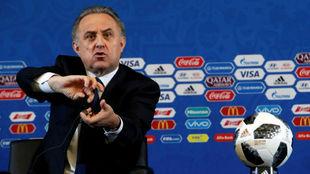 Vitaly Mutkó, en el sorteo del Mundial 2018