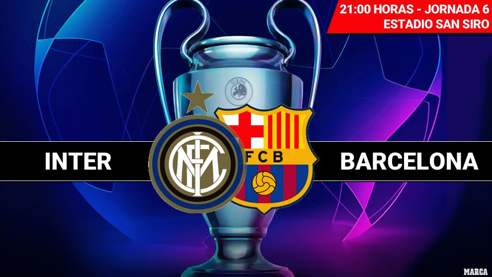 Inter - Barcelona: Horario y dónde ver en television hoy el partido...