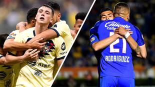 América tiene siete títulos de Concacaf y Cruz Azul seis.