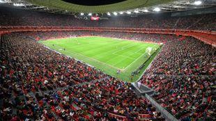 San Mamés, en el Athletic-Atlético de Copa de la pasada temporada.