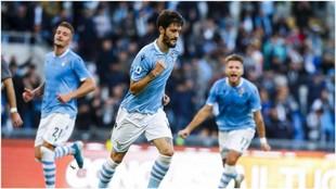 Luis Alberto celebra un gol a Undinense hace nueve días.