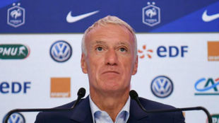 Deschamps en una rueda de prensa.