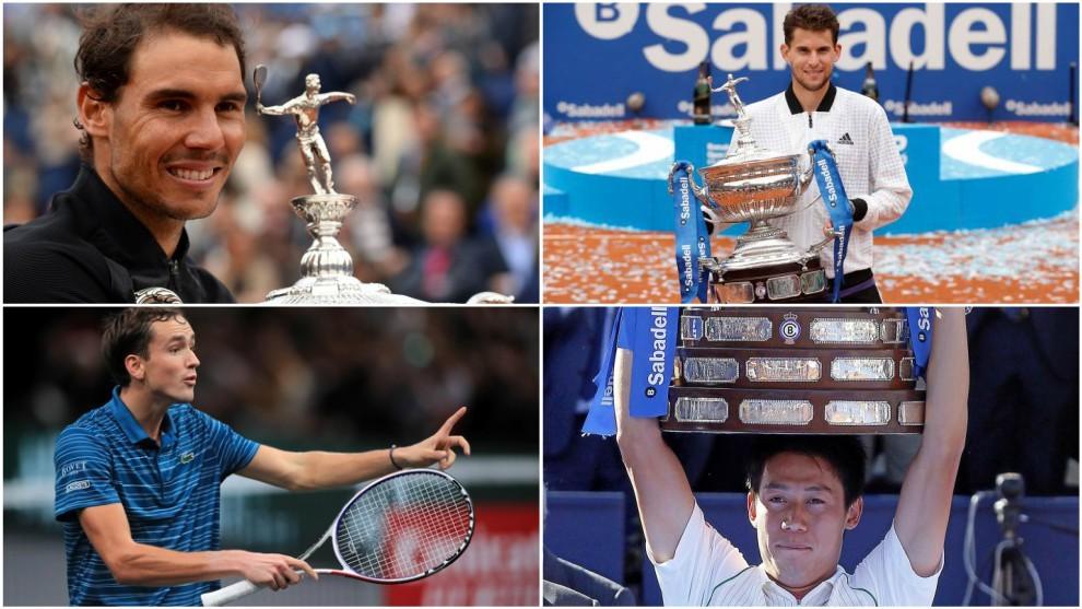 Nadal, Thiem, Medvedev y Nishikori, confirmados para el Godó