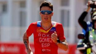 Javier Gómez Noya, en el Campeonato del Mundo de Triatlón de larga...