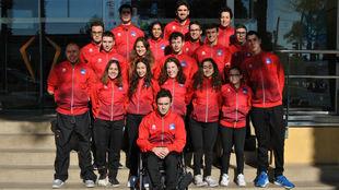 El equipo AXA de promesas paralímpicas.