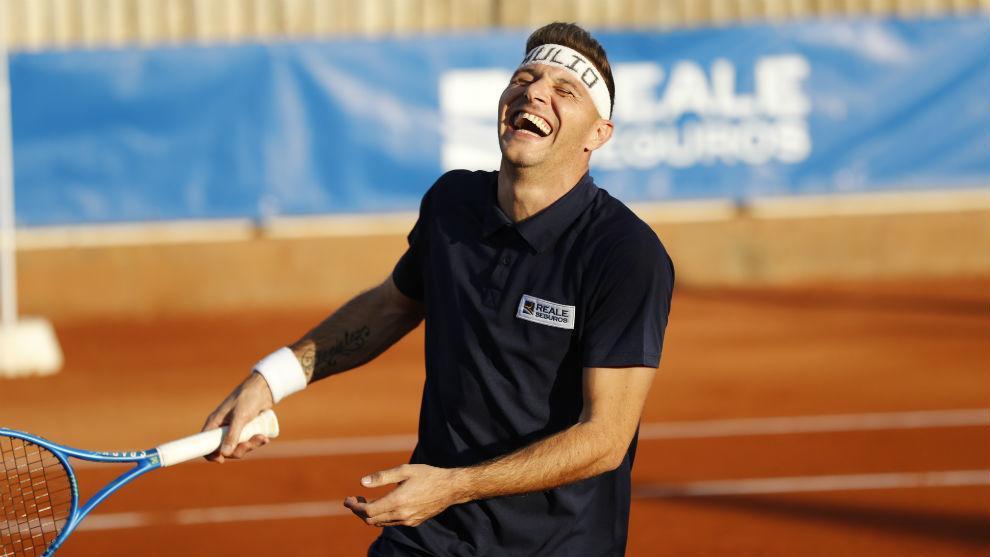 Partido de tenis entre Joaquín, Ferrero, Bartra y Ferrer