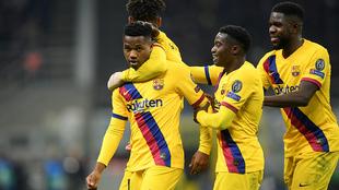 Ansu Fati anotó el gol del triunfo blaugrana
