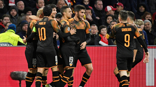 El Valencia fue contundente al ataque y muy atento a la defensiva.