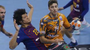 David Fernández en un partido frente al Barcelona de la pasada...