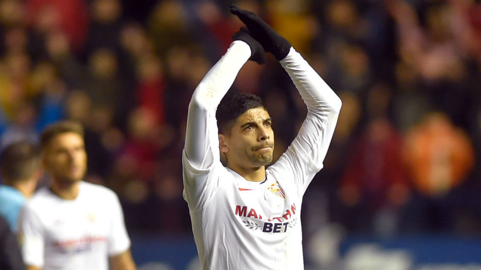 Banega, after the game against Osasuna.