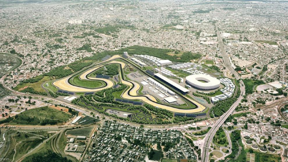 El plano del nuevo Circuito de Rio de Janeiro.