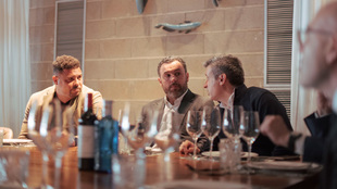 Ronaldo junto a Sergio, entrenador del Valladolid, en la comida de...