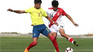 HIncapie, durante un partido con la selección de Ecuador