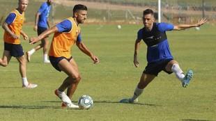 Zarfino y Rocha, en un entrenamiento