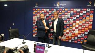 Jorge Menéndez Vallina, presidente del Oviedo, presenta oficialmente...
