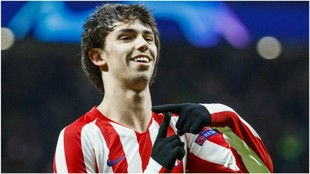 Joao Félix celebra su gol frente al Lokomotiv