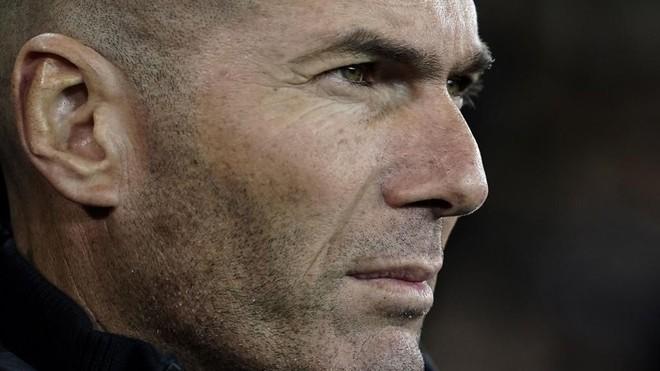 Zinedine Zidane, durante el partido ante el Brujas