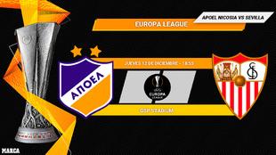 Apoel - Sevilla: Horario y dónde ver en television hoy el partido de...