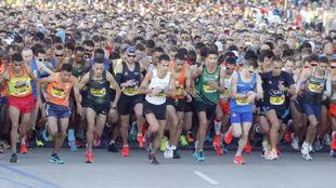 La salida del maratón de Valencia.