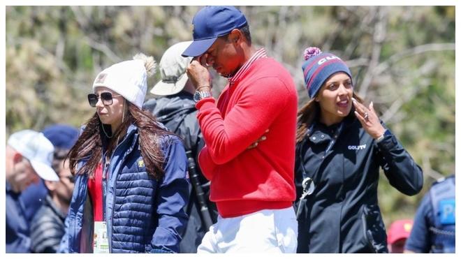 Tiger Woods se lamenta durante la primera jornada de la Presidents Cup