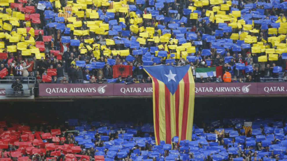 Imagen del Camp Nou en el último Clásico