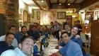 Los protagonistas del Alcorconazo cenando en su décimo aniversario en...