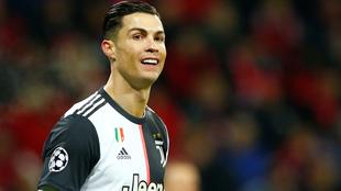 Ronaldo durante la champions con Juventus.