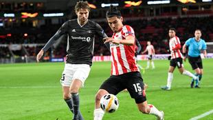 Gutiérrez se despidió de la Europa League como titular.