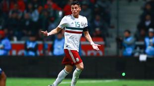Héctor Moreno durante un partido de la selección mexicana en Toluca.