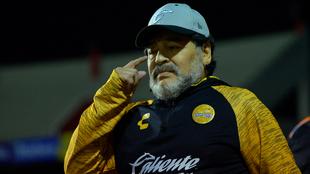 Maradona en su paso por México