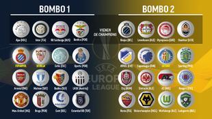 Bombos de la Europa League.