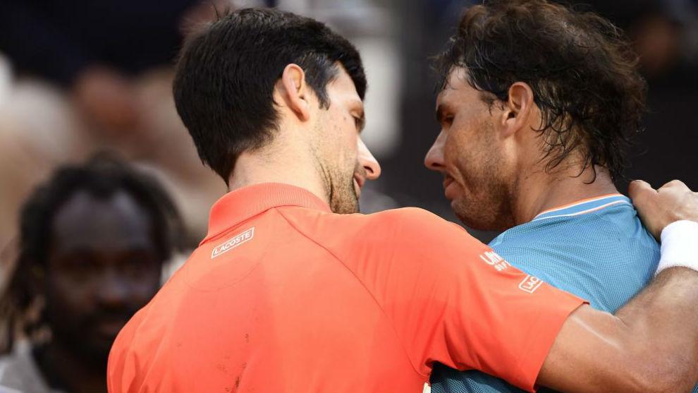 Djokovic y Nadal, en un partido