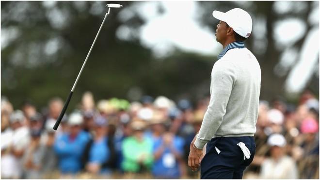 Tiger Woods, durante la jornada
